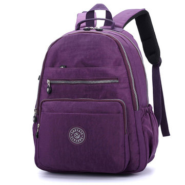 Women Nylon Water Repellent Casual Travel Backpack