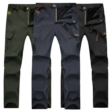 Spring Men's Outdoor Mountaineering Pants Uphill Walks Waterproof Windproof Warm Breathable Trousers