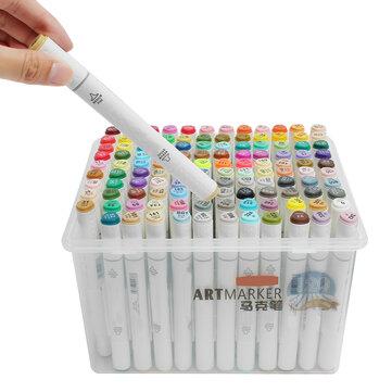 120 Colores Marcador Pluma Artista Bosquejo Arte Gráfico Pintura Finas Plumillas Doble Punta Tablero Dibujo Pluma