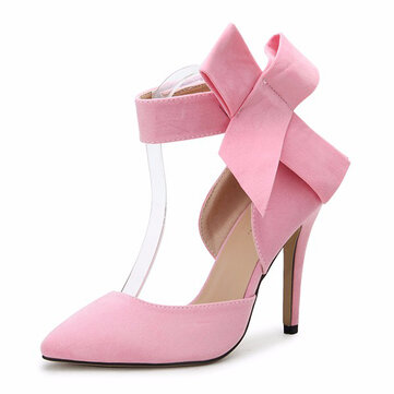 Women Fashion High Heel Suede Artificial Slip On Pointed Toe Thin Heel Pumps Shoes
