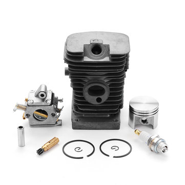 Effetool 38mm Cylinder Piston Pin Kit with Carburetor Zama Oil Pump Spark plug for STIHL MS170