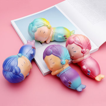 Mermaid Squishy 16.5*8.2CM Slow Rising Child Decompression Toy Soft Gift
