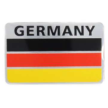 Buy Pair 3D Aluminum Germany Flag Badge Emblem Car Sticker Decal Decoration for $3.49 in Banggood store