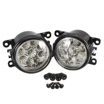 2pcs H11 55W 6000K LED Front Fog Lamp Daytime Running Light For Honda Ford Focus Subaru