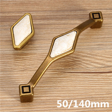 Zinc Alloy Ceramic Knob Drawer Pull Handles Cabinet Kitchen Door Furniture Accessories