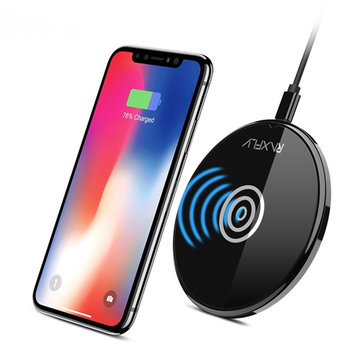 Indicatore RXAFLY LED Indicatore Qi Caricabatterie wireless per iPhone X 8 8 Plus Samsung S8 Note 8