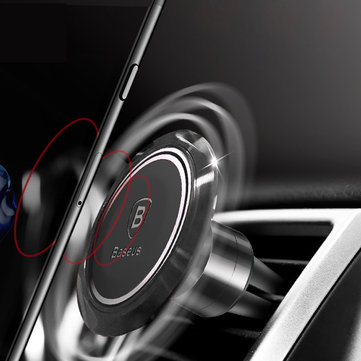 Baseus Gyro Finger Spinner Magnete Automobile Vent Vent Holder PhonE Supporto per Iphone Samsung Xiaomi