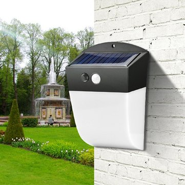 4.8W Solar Power 24 LED PIR Motion Sensor Wall Light Waterpoof for Outdoor Street Courtyard Garden