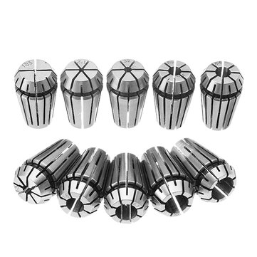 Machifit 10pcs ER16 1-10mm Spring Collet CNC Carving Machine Milling Chuck Collet Lathe Tool