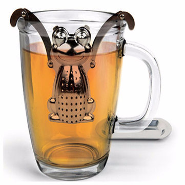 Stainless Steel Frog Loose Leaf Infuser Tea Filter Herbal Spice Strainer