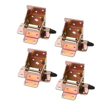 4Pcs Iron Locking Folding Table Chair Leg Brackets Self Lock Foldable Furniture Bracket