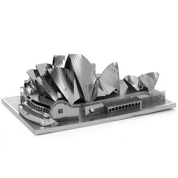 Bricolaje acero inoxidable 3d rompecabezas Aipin modelo montado Sydney Opera House