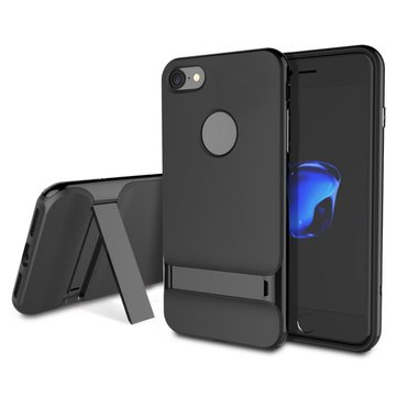 Rock Beveled Kickstand TPU PC Case For iPhone 7