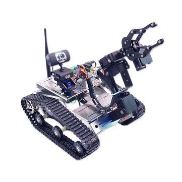 Xiao R DIY WiFi Video Smart Robot Tank Car For 51 Duino with Camera PTZ