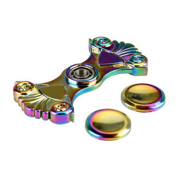 Zinc Alloy Two Arm Rotating Fidget Hand Spinner ADHD Autism Reduce Stress Focus Attention Toys