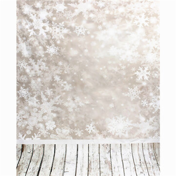 3x5FT 0.9mx1.5m Vinyl Snowflake Wood Floor Photography Backdrops Backgrounds Studio Props