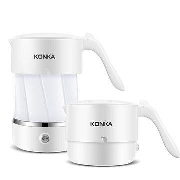 KONKA Bouilloire pliante de bouilloire électrique pliante portative utilisée dans le monde entier à une bouilloire se pliante de double tension