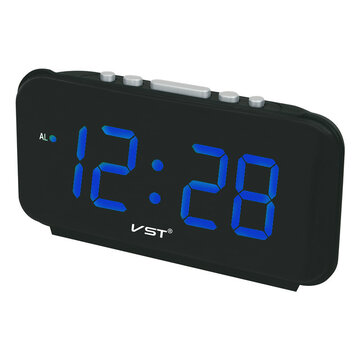 VST ST-4 Big Numbers Digital Alarm Clocks EU Plug AC Power Electronic Table Clocks With 1.8 Large LED Display Home Decor Gift For Kids
