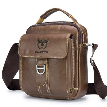 Bullcaptain Bag Genuine Leather Multi-function Crossbody Bag