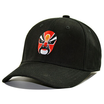 Men Women Sport Peking Opera Canvas Sun Peaked Cap