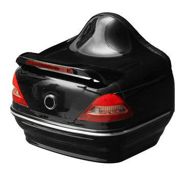 Motorcycle Trunk Tail Box with Taillight Black For Harley/Honda/Yamaha/Suzuki Vulcan Cruiser