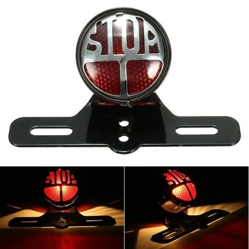 Motorcycle Rear Tail Brake Stop Light License Plate Bracket Universal