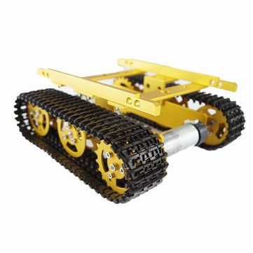 DIY T100 Aluminum Alloy Tank Caterpillar Chassis Smart Robot Kit For Arduino