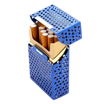 Honana HN-C1 Fashion Creative Cigarette Box Holds 20pcs Metal Hollow Cigaret Case Organizer