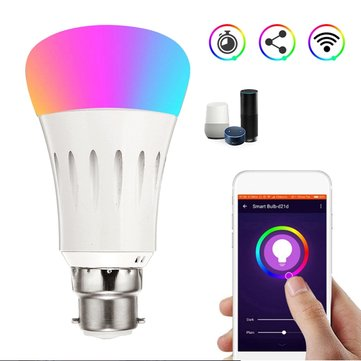 B22 7W RGBW WIFI LED Smart Light Bulb for Echo Alexa AC85-265V
