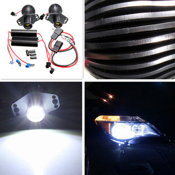 20W LED Angel Eyes Halo Rings Headlight Lamp For BMW E90 E91 Xenon White