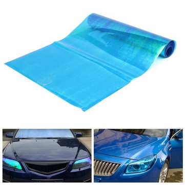 30cmx200cm Blue Transparent Tint Film Sticker for Headlight Fog Light Tail Lamp
