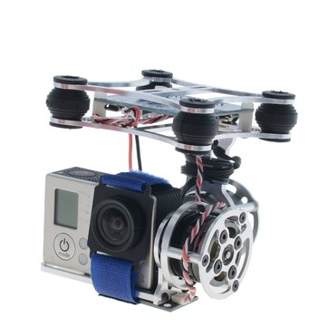 Light 2 Axis Brushless Gimbal With BGC3.0 Plug and Play Stabilizer For GoPro SJ Hawkeye DJI RC Drone