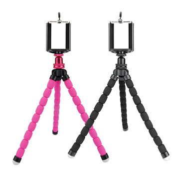 Octopus Flexible 3.5-5.5inch Holder 270mm Tripod Bracket Selfie Stand Monopod For Cell Phone Camera