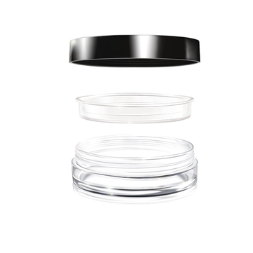 3pcs Empty Cosmetic Jars Pots Set With Powder Sifter Loose Powder Container Case Makeup DIY Tools
