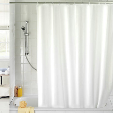 180x180cm Waterproof Shower Curtain Mold Resistant Plain Colour Bath