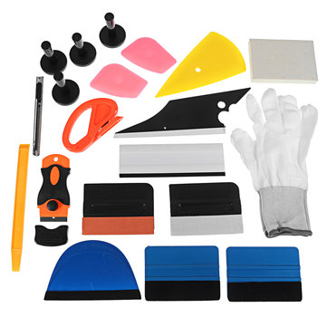 PRO Car Wrap Vinyl Tools Kit Scratch-free Squeegee Scraper Razor Glove Magnets
