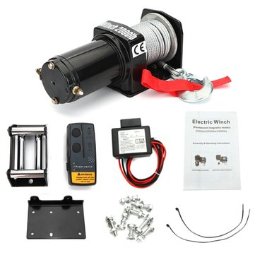 2000Lb 12V Electric Winch CE for Off Road Vehicles Car Yacht ATV Truck Boat