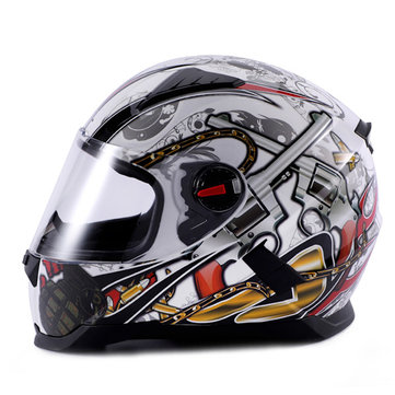 LVCOOL Motorcycle Full Face Helmet Street Sport Bike Anti Fog Winter Racing Warm
