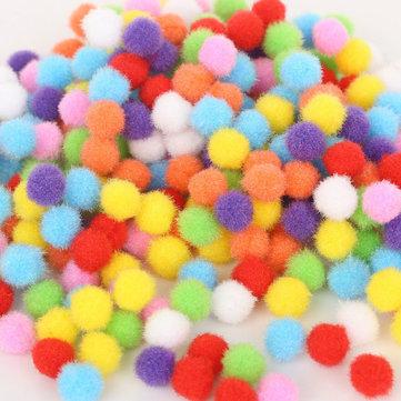 Creative 100pcs 5 Size Soft Mix Color Pompom Fluffy Plush Cloth Craft DIY Soft Ball Fur Ball Home Decor