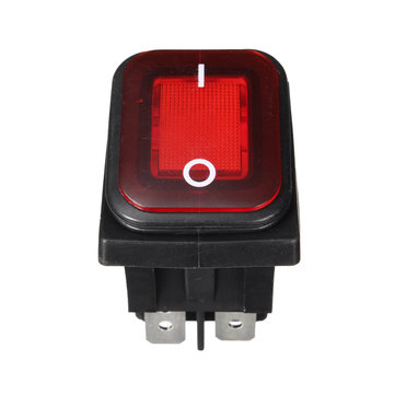 WA2P-10 Waterproof Boat Type 4 Feet with Red Light Switch Rocker Rocker Switch