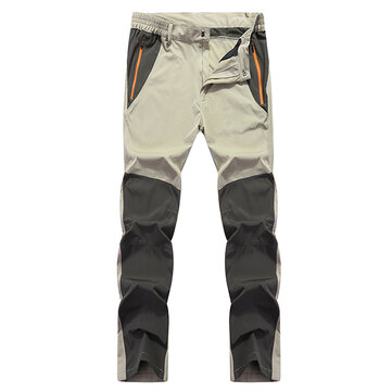 Men's Outdoor Speed Dry Pants Spring Autumn Breathable Water-repellent Casual Thin Pants