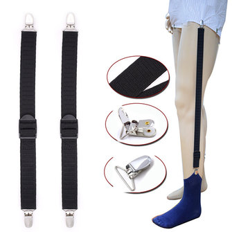 Mens Shirt Stays Holder Good Elastic Uniform Business Suspender Shirt Garter