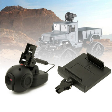 720P HD Adjustable Lens And Phone Holder for Rc Car Military Truck Parts