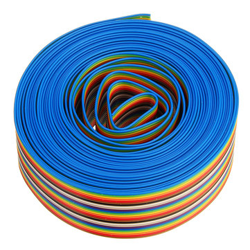 5M 1.27mm Pitch Ribbon Cable 26P Flat Color Rainbow Ribbon Cable Wire Rainbow Cable