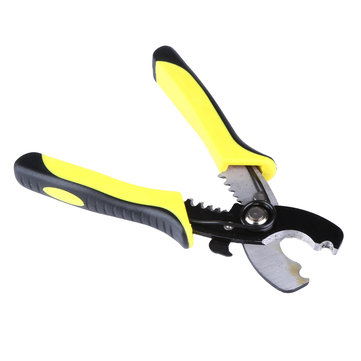 8inch Wire Stripper Cable Cutting Scissor Stripping Pliers Cutter 1.6-4.0mm Hand Tools Yellow Handle