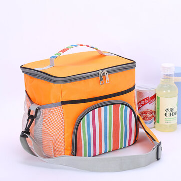 Portable Lunch Bag Thermal Insulated Snack Lunch Box Carry Tote Storage Bag Travel Picnic Food Pouch