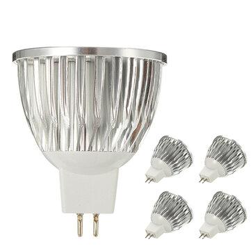 ZX หรี่แสงได้ MR16 4.5W 15 SMD 5730 LED หลอดไฟ LED สีขาวบริสุทธิ์จุดไฟ AC / DC 12V