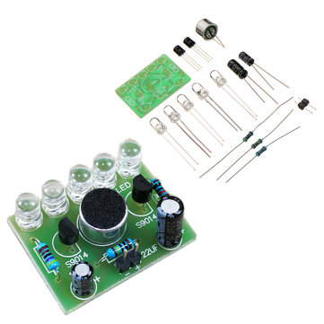5pcs DIY Voice Controlled Melody Light 5MM Highlight DIY LED Flash Electronic Training Kit