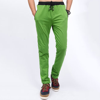 Men Casual Sports Pants Summer Leisure Slim Fit Trousers Sweatpants