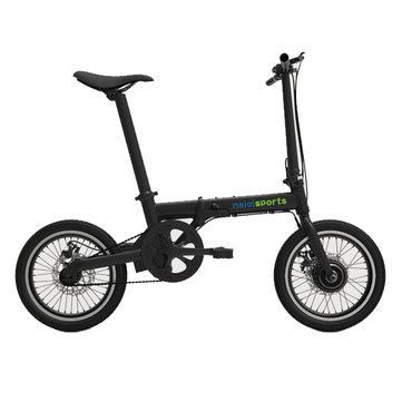 Qualisports XIAOKE 36V 250W Brushless Motor 158.4WH 16 Inches Black Folding Electric Bike 50KM Mileage Automatic Cruise System
